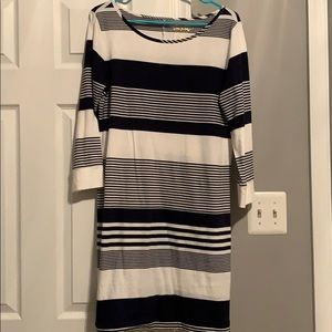 Lilly Pulitzer 3/4 sleeve striped dress